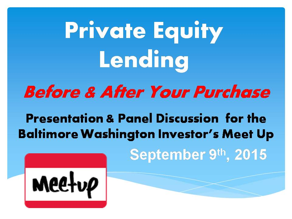 Private Equity Lending - Before & After Your Deal